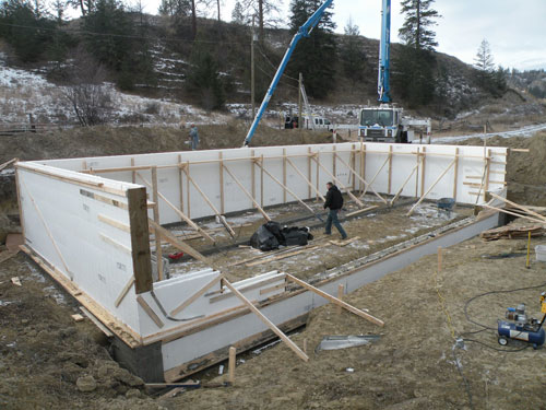 Icf foundations gem quality homes for Icf basement construction